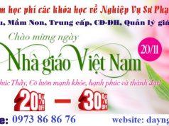 Chào mừng ngày Nhà giáo Việt Nam, giảm học phí cho các học viên đăng ký tại khu vực phía Nam